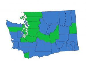 WA State Map of No Smoking and No Vaping Laws